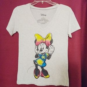 Disney Minnie Mouse Vneck Tshirt